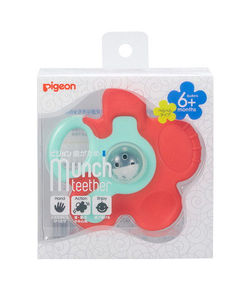 Pigeon Munch Teether Carrot Flower Assorted 6+ months