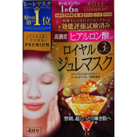 Kose Clear Turn Premium Jelly Face Mask Hyaluronic Acid Royal Jelly Coenzyme Q10