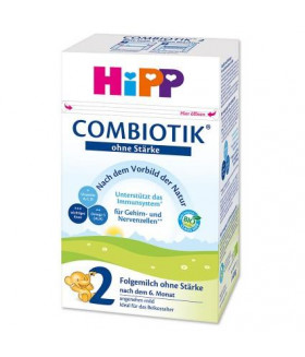 HiPP Stage 2 Organic Combiotic Baby Milk Formula No Starch (600 g) German Version 6+