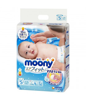 Moony Baby Diapers Small size.(4-8kg) (9-17lbs) 84 count.