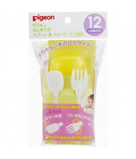 Pigeon Baby Feeding Fork & Spoon Set (12 Months)
