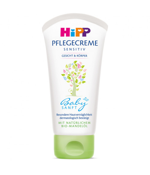 Hipp Baby Soft Sensitive Baby Cream for Face & Body 75 ml 2.5oz with organic almond oil