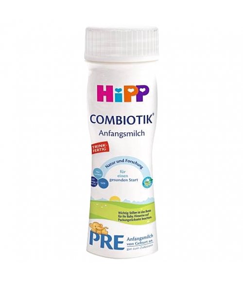 6 Packs of Premixed HiPP Stage PRE Combiotic Infant Milk Formula (6*200ml) - German Version  0+