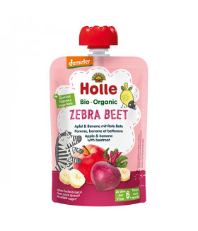 Holle Organic  baby food pouch zebra beet  (6+ Months)