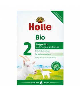 Holle Goat Stage 2 Organic (Bio) Follow-On Infant Milk Formula With DHA (400g) (12 boxes)