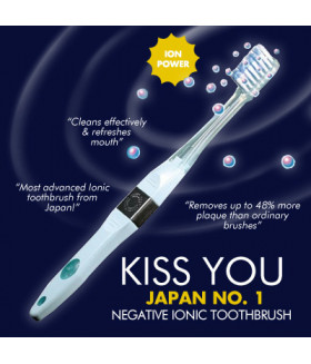KISS YOU Ionic Toothbrush - White