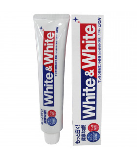 LION WHITE & WHITE TOOTHPASTE FRESH MINT 150G