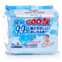 Baby Wet Wipes Goo.N 99% Pure Water 3x70 (210 items)