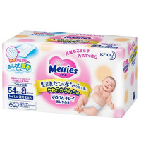 Baby Wet Wipes Merries 2x54 items